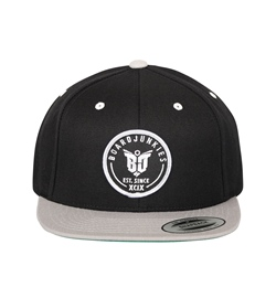 boardjunkies Cap BJS Snapback black silver