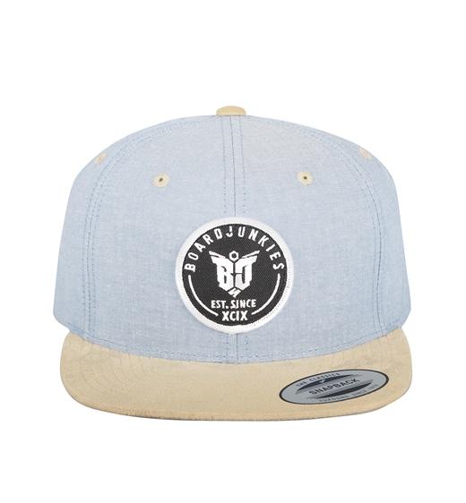 boardjunkies Cap BJS Snapback blue beige