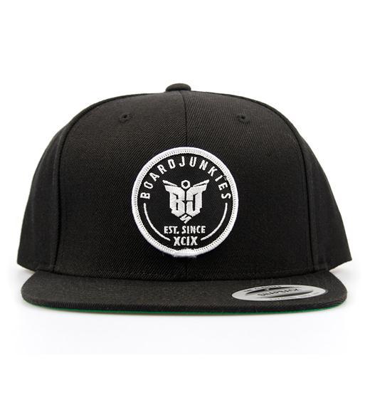 "boardjunkies Cap ""BJS Snap-Back""(black)"