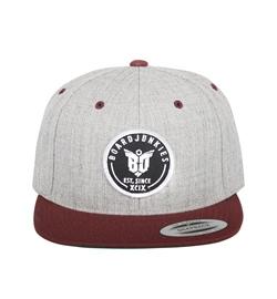boardjunkies Cap BJS-Snapback h.grey maroon