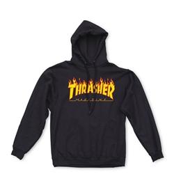 Thrasher Hoodie Flame, schwarz
