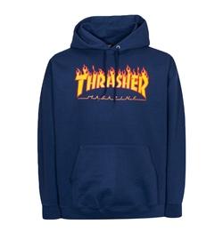 Thrasher Hoodie Flame, blau