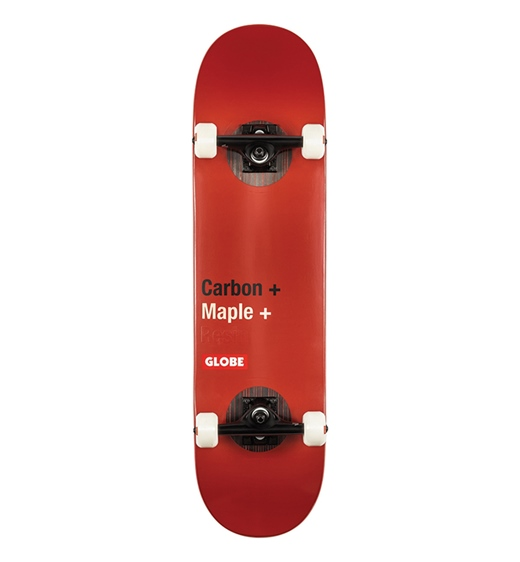 """Globe Skateboard Komplett G3 Bar 8.25"""" Red"""
