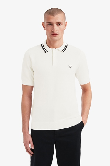 Fred Perry Polo Shirt Textured Knitted