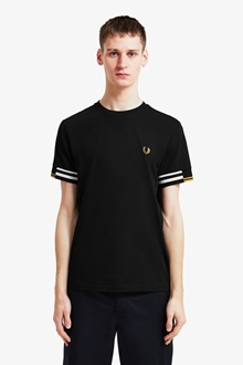 """Fred Perry Shirt """"Abstract Cuff T-Shirt"""""""