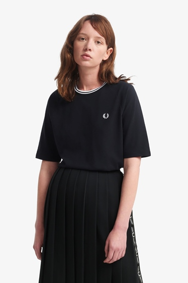 "Fred Perry Girl Shirt ""Twin Tipped Pique T-Shirt"""
