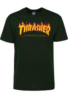 Thrasher T-Shirt Flame schwarz