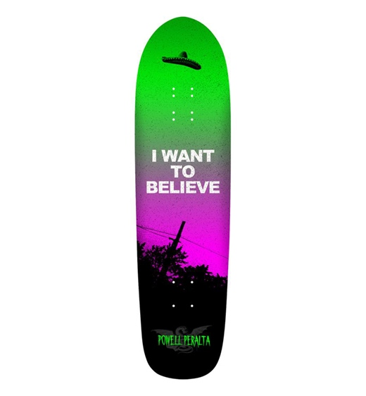 "Powell Peralta Skateboard Deck Belive Fun Shape 8.4"""