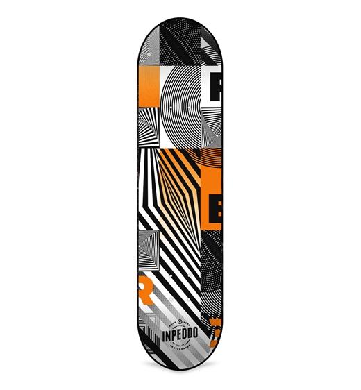 "Inpeddo Deck ""Fibre Whip"" 8.25"" (orange)"