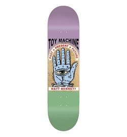 """Toy Machine Skateboard Deck Bennett Past Present Future, 8.5"""""""