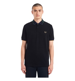 Fred Perry Polo Shirt Tartan Collar Polo Shirt