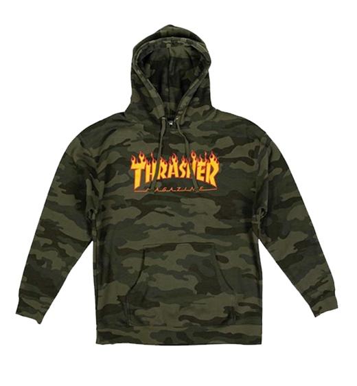 Thrasher Hoodie Flame Camo