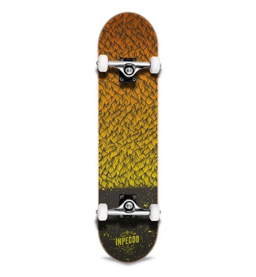 "Inpeddo Kinder-Skateboard Komplett Feather yellow 7.25"""