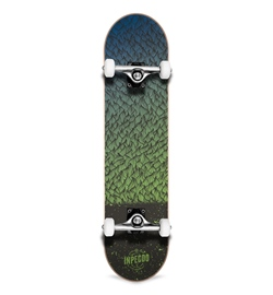 "Inpeddo Skateboard Komplett Feather green 7.75"""