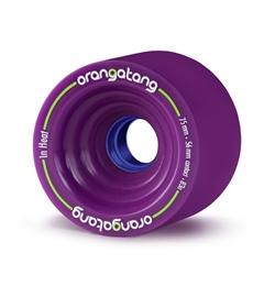 Orangatang Longboard Rolle In Heat 75mm 83a purple