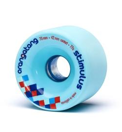 Orangatang Rolle Stimulus 70mm 77a blue