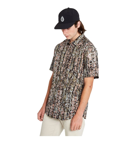 Volcom Kurzarm Hemd Striver, old mill