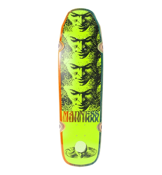 "Madness Skateboard Deck Mind Universe 9"" neon yellow"