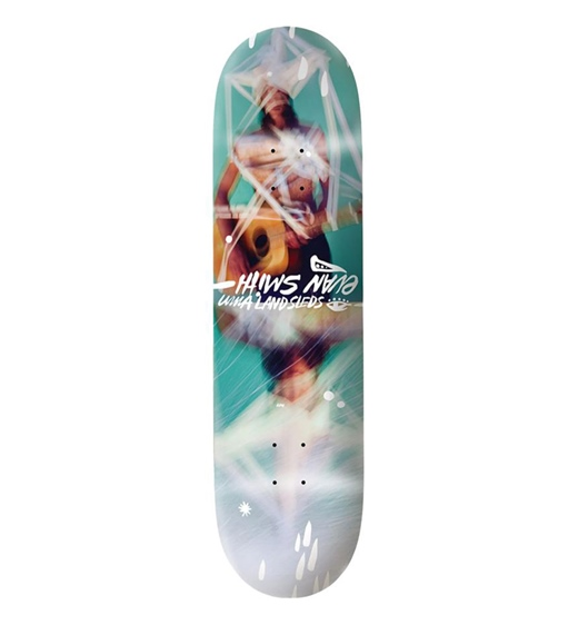 UMA Landsleds Skateboard Deck Evan Taped Up 8.5""