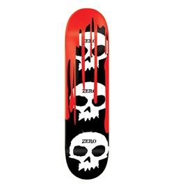 "Zero Skateboards Deck Team 3-Skull Blood 8.00"""