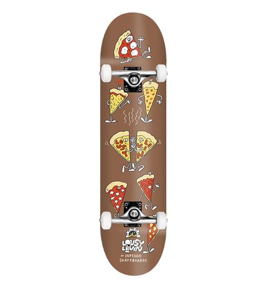 "Inpeddo Skateboard Komplett X Lousy Pizza 8.0"""