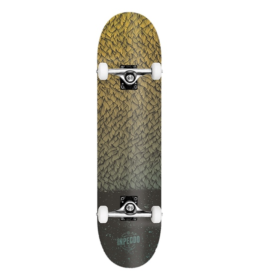 "Inpeddo Skateboard Komplett Feather 8.0"""