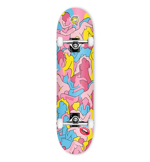 "Inpeddo Skateboard Komplett Gummi Love 8.0"""