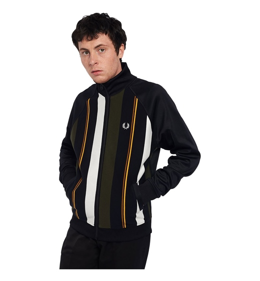 Fred Perry Knitted Stripe Track Jacket
